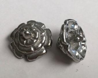 Set of 12 Replica Tudor Pewter Dudley Buttons for Renaissance/Elizabethan Reenactment