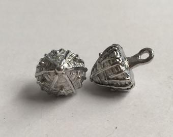 Set of 12 Replica Tudor Pewter Thread Cone Buttons for Renaissance/Elizabethan Reenactment - Large