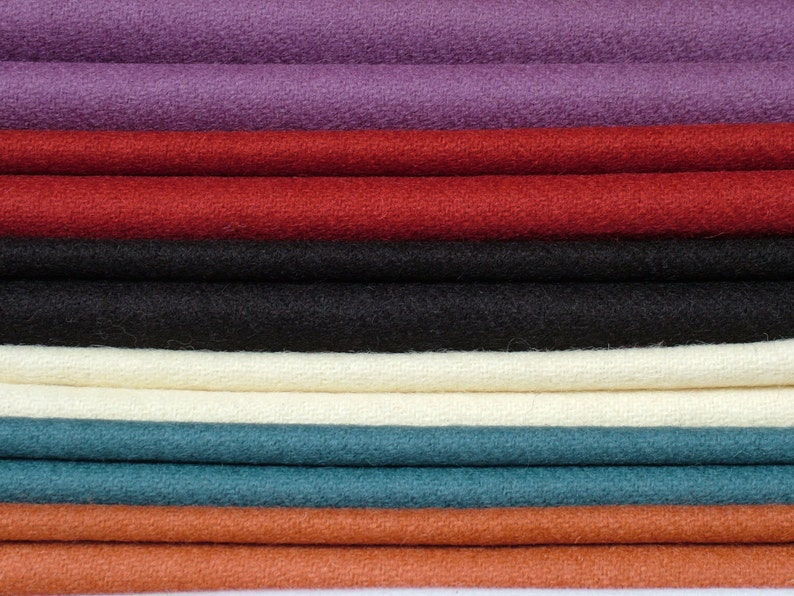 fabric sold by the half yard Madder Red Tudor Style Woollen 22 Twill Cloth