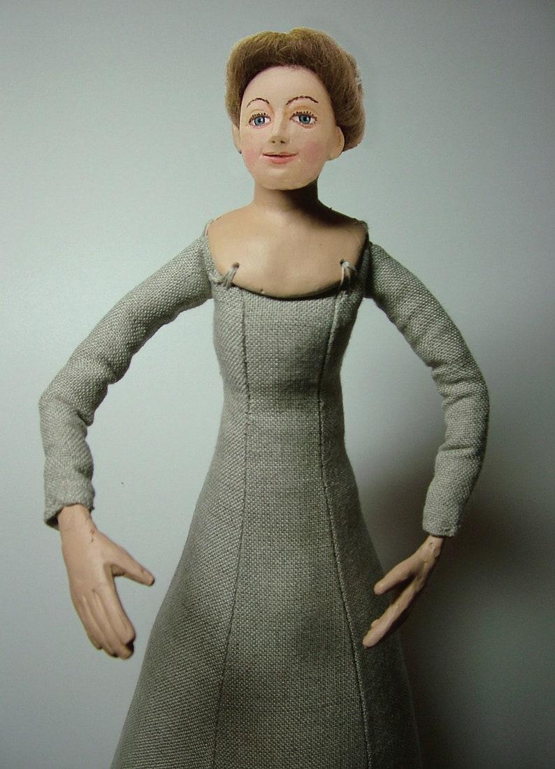Tudor Woman Doll Kit  Brown Hair image 0