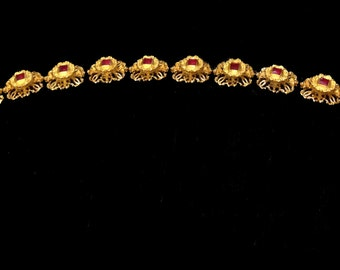 Replica Tudor Style Jewelled Billiment MADE TO ORDER - Featuring Synthetic Rubies