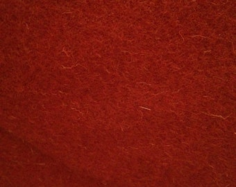 Oddment of Fabric - 27 inches of Red Tudor Style Woollen 'Frizado' Cloth