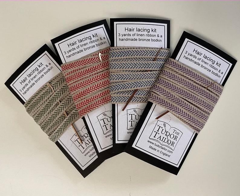Hairlacing Kit in various colours for Tudor/Elizabethan image 0
