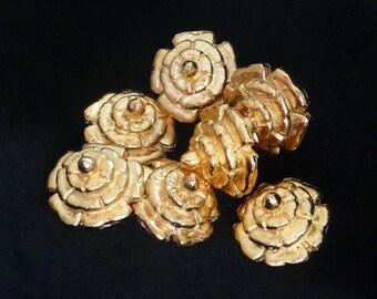 Replica Tudor Gold-Plated Dudley Buttons for Renaissance/Elizabethan Reenactment