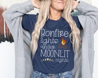 Bonfire Shirt, Camping Shirt, Fall Shirt, Glamping Shirt, Nature Shirt, Camp Lover Tee, Camper Shirt, Hiking Shirt, Making Memories Shirt