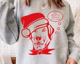 Santa's Got Ho's, Ho's In Different Area Codes, Ugly Christmas Sweater, Dog Lover Christmas, Christmas Tee, Graphic Tee, Gift Idea, Holiday