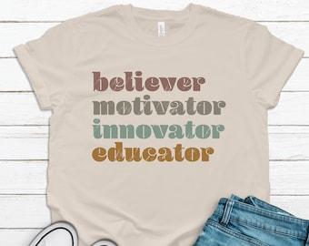 Cute Teacher Tee, Tee for Teacher, Educator Shirt, Gift For Teacher, Elementary Teacher, Teacher Shirt, Graphic Tee, Shirt for Teacher