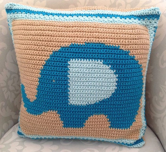 Kissen Elefant Elefant Kissen crochet häkeln Kissen häkeln | Etsy