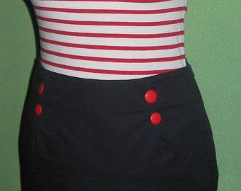 mini skirt sailor style