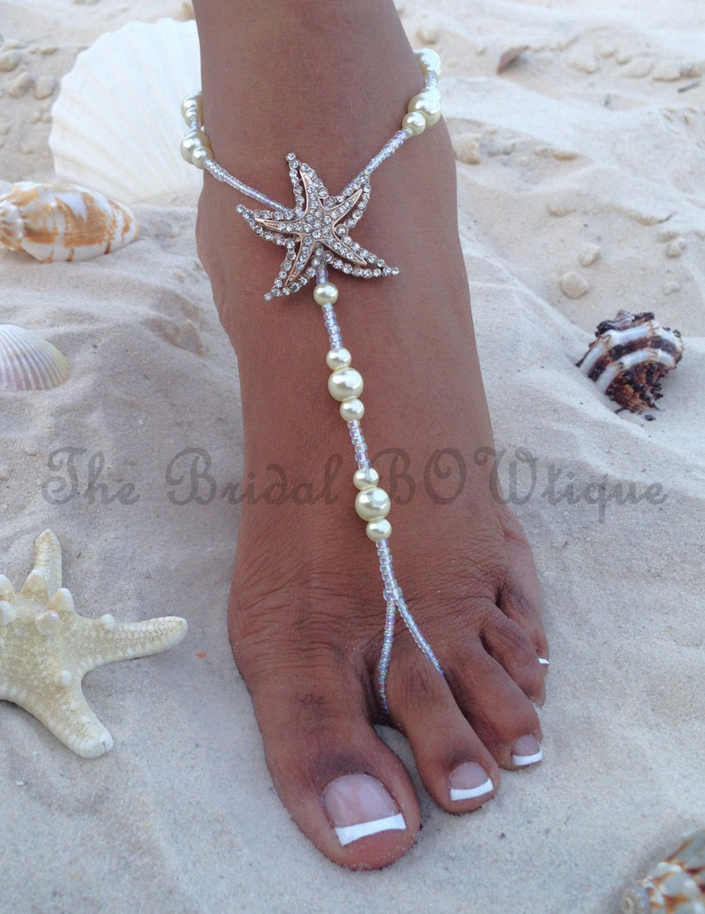 f1e697ca804 Starfish Barefoot Sandals Beach Wedding Barefoot Sandal
