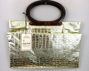 Vintage Gold Envelope Handbag