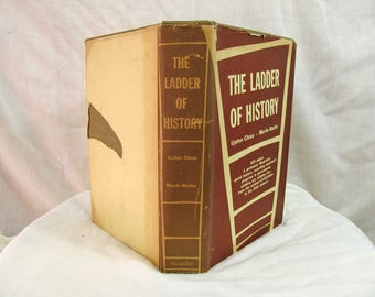 The Ladder of History: a World History, Close & Burke Macmillan 1946 Hardcover Book Illustrated History Government Science Art Religion