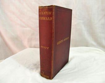 Quentin Durward, Sir Walter Scott, George Routledge & Sons, London 1875 Hardcover Antique Book, 15th Century Romance Maciavel King Louis XI