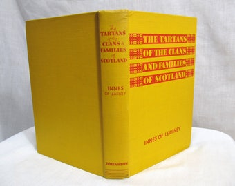 The Tartans of the Clans and Families of Scotland  Innes Of Learney, W. & A. K. Johnston, Edinburgh 1949 Hardcover Illustrated Book