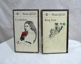 King Lear & Cymbeline, Signet Classics, Shakespeare, 1968, Set of Books Paperback, Shakespeare Plays