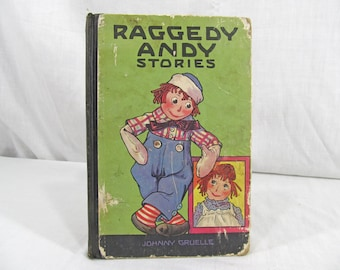 SALE Raggedy Andy Stories 1920 First Edition Children's Book Hardcover Raggedy Ann Johnny Gruelle Illustrated M.A. Donohue