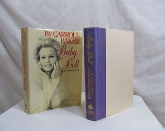 Baby Doll by Carroll Baker an Autobiography SIGNED by author, First Edition 1983 Hardcover Arbor Book, Actress of Harlow, Carpetbaggers etc