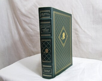 Great Cases Of Sherlock Holmes, Franklin Library, Sir Arthur Conan Doyle; Mitchell Hooks Illustrated, 1987