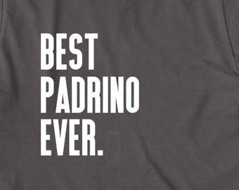 Best Padrino Ever Shirt - gift idea for godfather, baptism, spanish godfather - ID: 2033