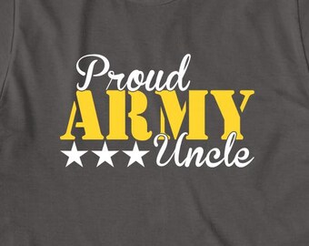 Proud Army Uncle V.2 Shirt, soldier, navy, army, air force, marine, gift idea for uncle - ID: 1566