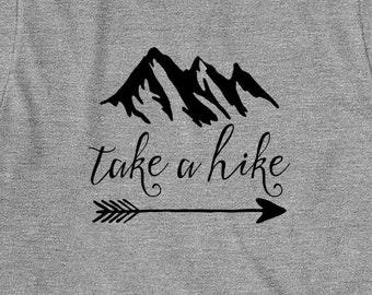 Take A Hike Shirt - mountains, hills, outdoors, hiking, trail, gift idea - ID: 1534