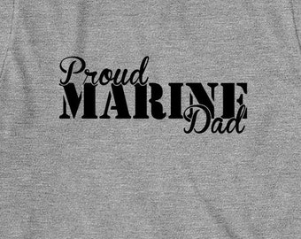 Proud Marine Dad Shirt, soldier, navy, army, air force, marine, gift idea for dad - ID: 809