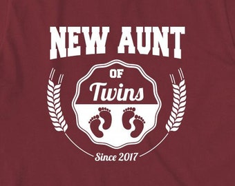 New Aunt of Twins Since 2017 Shirt - family, twins, christmas gift idea - ID:1766