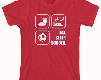 Eat Sleep Soccer Shirt - soccer, futbol, goal - ID: 294