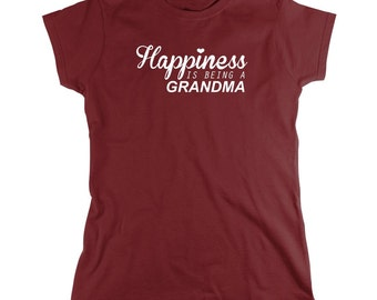 Happiness Is Being A Grandma Shirt, mother's day gift idea, grandmother's day, Christmas - ID: 688