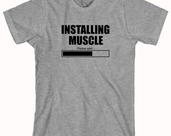 Installing muscle, workout, gym, shirt - ID: 75