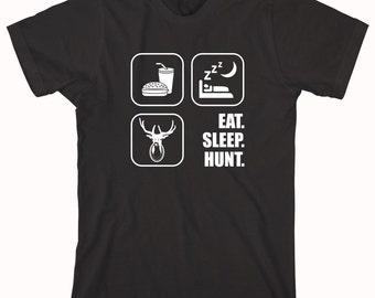 Eat Sleep Hunt Shirt - gift idea for dad, fathers day, christmas, hunter, deer, trophy hunt - ID: 282