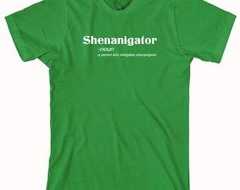Shenanigator Definition Shirt, funny Irish drinking shirt, St. Paddy's, Saint Patrick's, St. Patrick's, bar crawl - ID: 502
