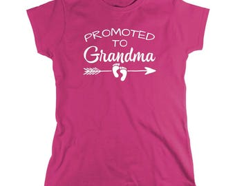 Promoted To Grandma Shirt - grandma gift idea, mothers day, Christmas gift idea - ID: 2026