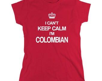 I Can't Keep Calm I'm Colombian shirt, Medellin, Bogota, Cali, Buga, Cartagena, Santa Marta, Barranquilla, Armenia - ID: 171