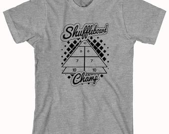 Shuffleboard Champ Shirt - gift idea for gamer, bar games - ID: 660