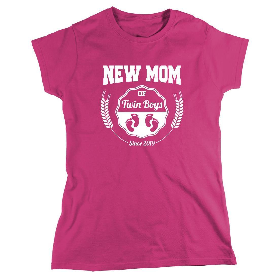 Nouvelle maman de jumeaux garçons depuis 2019 chemise - chemise jumeaux maman, jumeaux chemise maman, bébé, chemise à manches longues disponible - ID: 2353 5d58b3