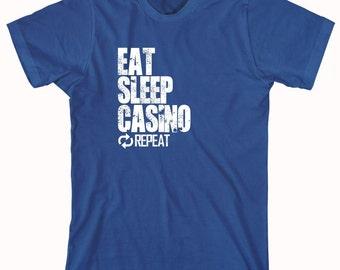 Eat Sleep Casino Repeat Shirt, casino fanatic, gambling, slots, birthday gift for husband - ID: 855