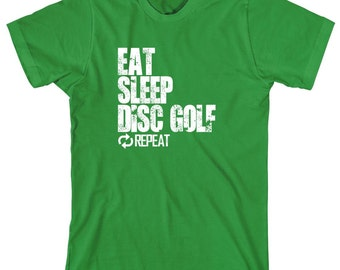 Eat Sleep Disc Golf Repeat Shirt - sports, football, baseball, little league, high school sports, college sports - ID: 1115
