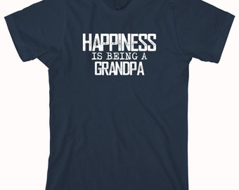 Happiness Is Being A Grandpa Shirt, new grandpa, gift for grandpa, christmas gift - ID: 685