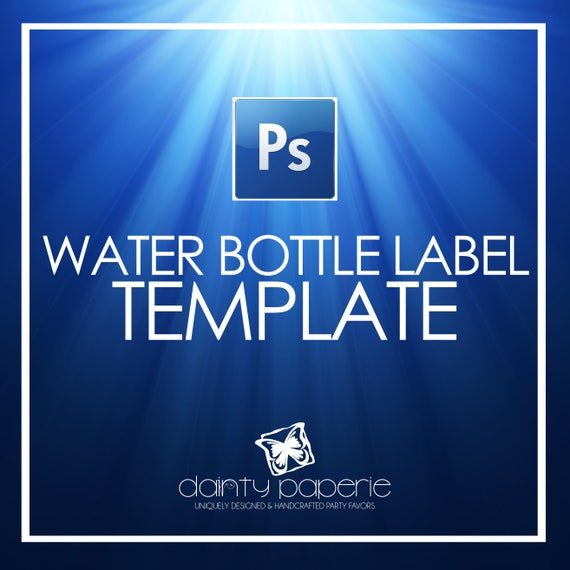DIY Water Bottle Label Template Adobe Photoshop CC File