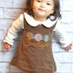 Girls Thanksgiving Dress, monogrammed thanksgiving dress, corduroy jumper, personalized Corduroy dress,