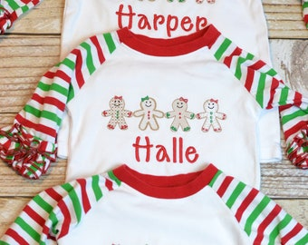 eccc7ef558ae6 Girl christmas shirt | Etsy