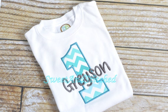 Boys First 1st Birthday Shirt Or Tee Baby Boy Chevron Cake