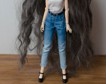Ombre high waist jeans for Pullip Obitsu 27 by Atelier Milabrocc Denim pants