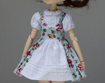 SALE Poppies dress   Pullip Obitsu by Atlier Milabrocc