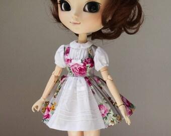 SALE Magenta Roses dress  Pullip Obitsu by Atlier Milabrocc