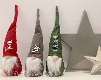 Personalised Christmas Gonks, Christmas Gnome, Christmas Gift, Festive Gnomes, Christmas Decoration