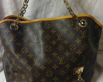 Authentic Huge Vintage Louis Vuitton Chain Shoulder Bag