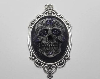 Day Of The Dead Sugar Skull Necklace Pendant