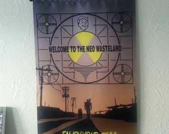 "2' x 3' ""A Boy and His Dog"" Fallout fan art wall scroll"